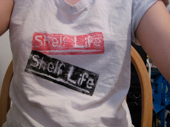 shelf life t-shirt