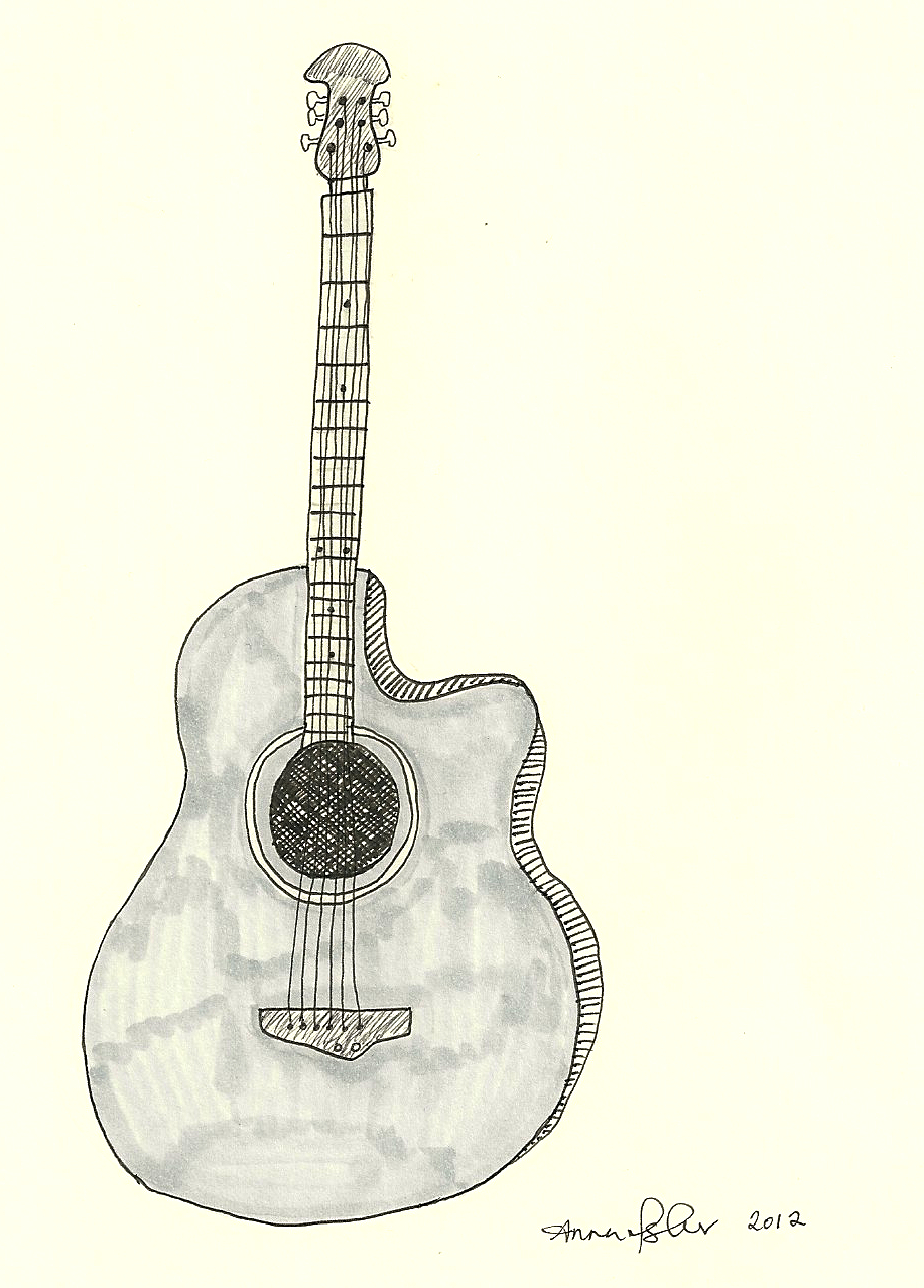 Прикольные рисунки гитары натуральный