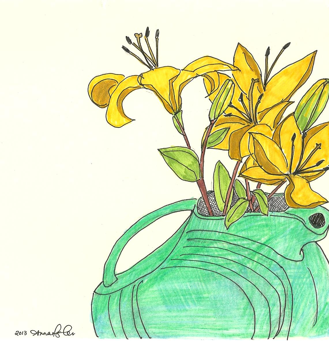 Flower Drawings Lev Hardware