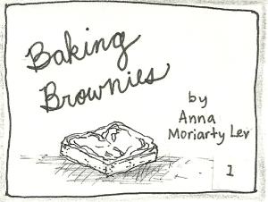 baking brownies panel 1