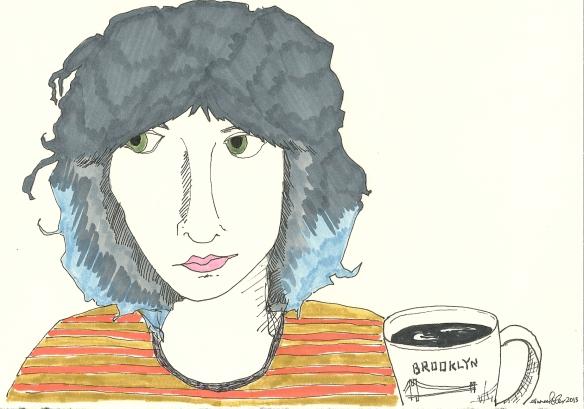 self-portrait with brooklyn mug