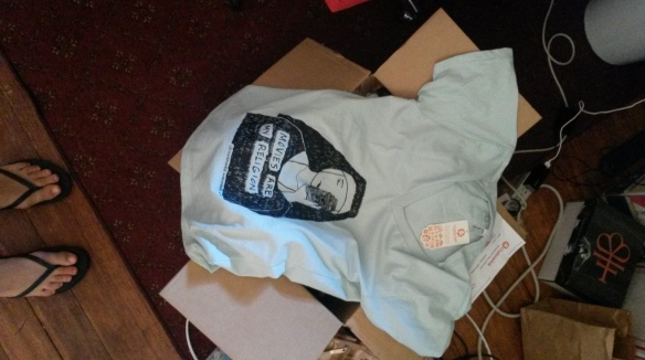 nun shirt with box
