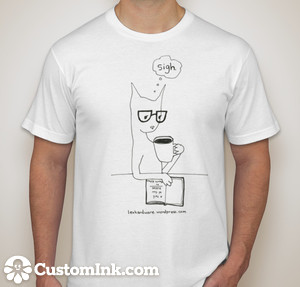 cat coffee t-shirt