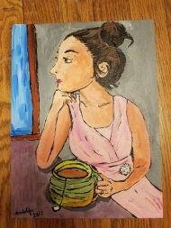 commission portrait, painting